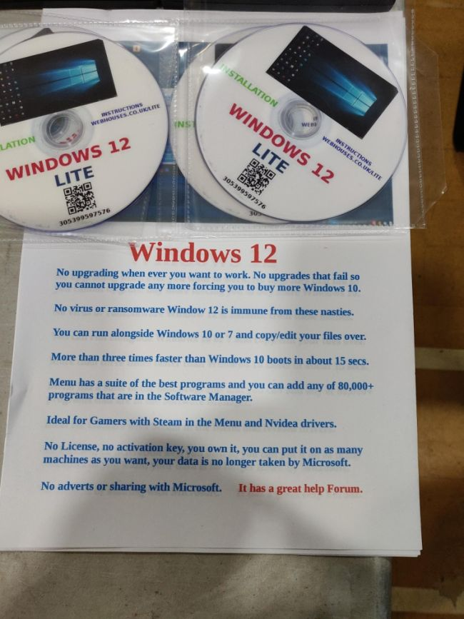 Windows 12 Lite: Windows hecho en Linux